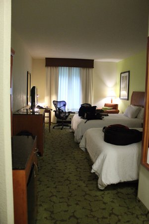 Hilton Garden Inn Tallahassee Central : Two queen-bed room with armchair and desk