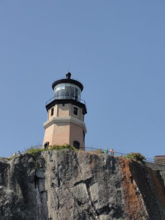 Silver Bay, MN: Split Rock Lighthouse view from Lake Superior