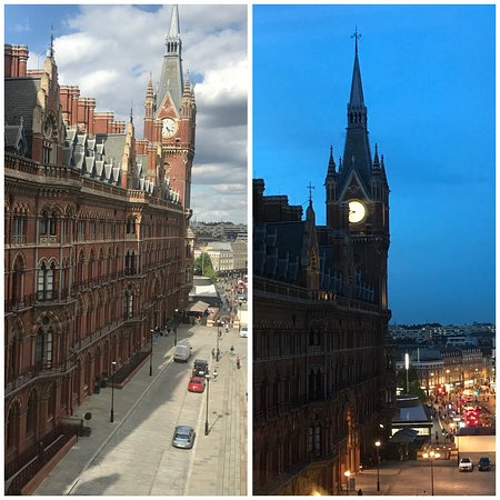 St. Pancras Renaissance Hotel London: View from the room.