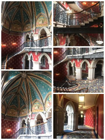 St. Pancras Renaissance Hotel London: The grand staircase and hallways.