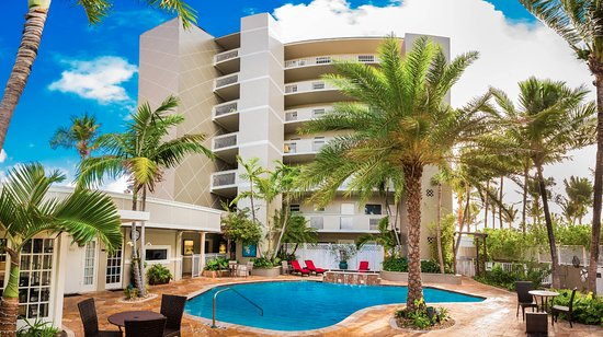 Sun Tower Hotel & Suites located directly on the beach in Fort Lauderdale Florida.