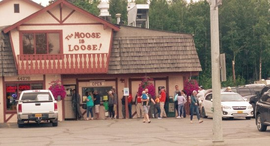 Lining up for The Moose is Loose, some of the best pastries in all 50 states!