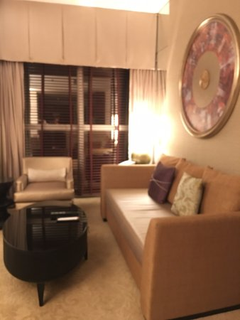"Dusit  Thani Dubai: TV couch at ""living room"""