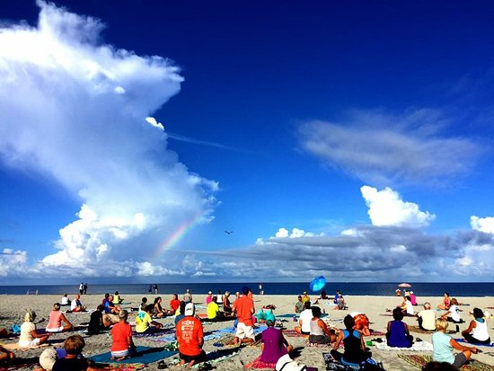 Venice, FL: This was taken on Monday July 17 during the 8:00 a.m. yoga class. It's always this beautiful