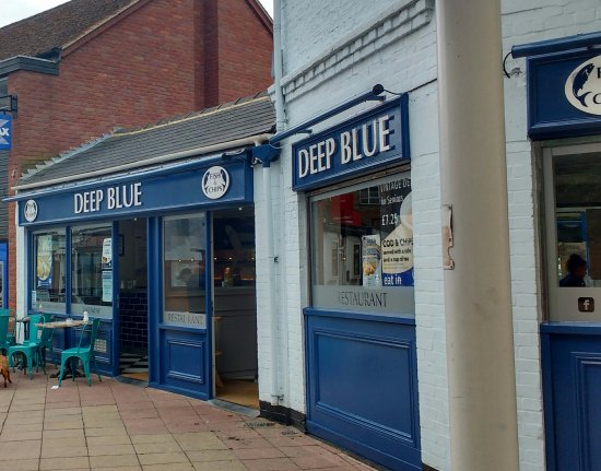 DEEP BLUE Chip Shop Newmarket Suffolk England