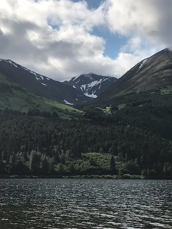 Summit Lake Lodge: View from our canoe on the lake