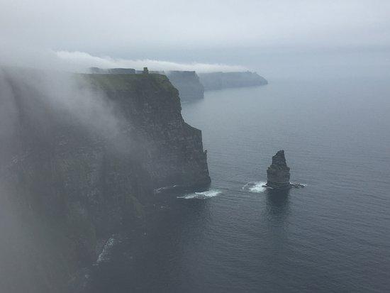 Doolin, Ireland: It does get foggy, but it is still spectacular!