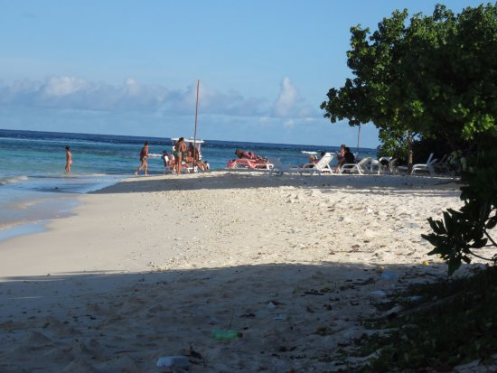 Thulusdhoo Island: guest beach area