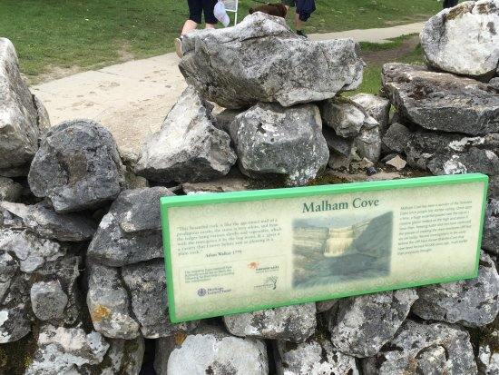 Malham, UK: Sign near the start