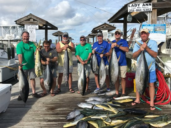 Dauphin Island, AL: 7/21-23-2017. Alabama Deep Sea Fishing Rodeo Lady Ann crew. Super guys/super catch