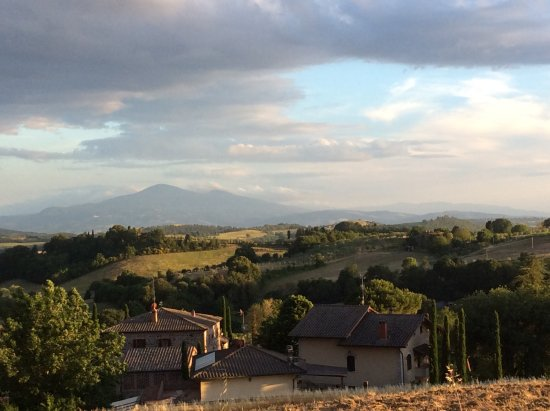 Montefollonico, Italia: There are many good hiking spots from the property.