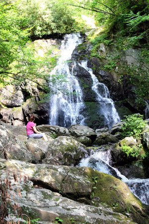 Spruce Flats Falls: There are lots of spots to just sit and enjoy