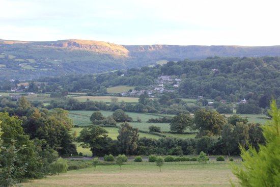 Crickhowell, UK: View from the garden