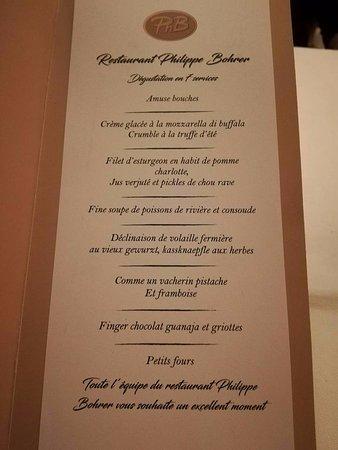 Rouffach, Frankrijk: Carte d'un menu proposé pour les coupons groupon