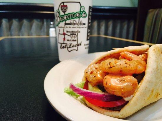 Brookhaven, MS: Blackend Shrimp Pita