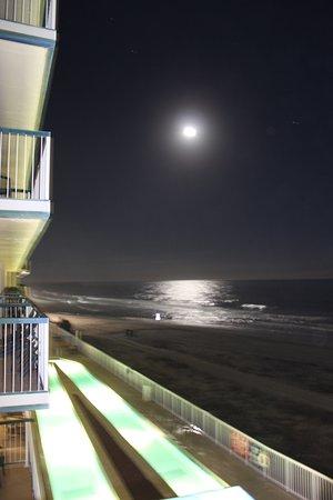Westgate Myrtle Beach Oceanfront Resort Full Moon Over The Pacific Ocean
