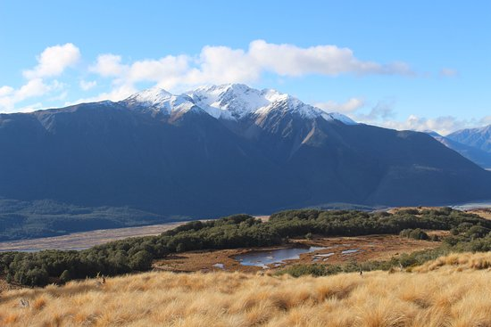 Arthur's Pass National Park, New Zealand: Vista do meio do trajeto