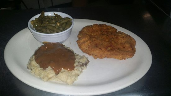 Stanley, VA: Hand breaded country fried steak