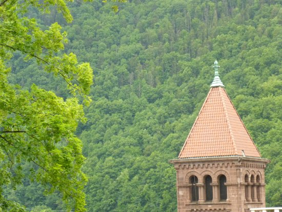 Jim Thorpe, PA: Tower viewed from the mansion
