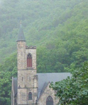 Jim Thorpe, PA: Church viewed from the mansion