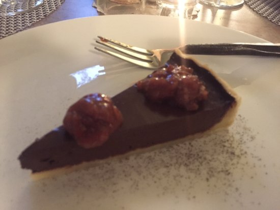Washington Island, Ουισκόνσιν: Chocolate cherry tart... amazing way to end our evening!
