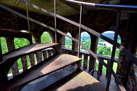 Greenfield, MA: spiral steps
