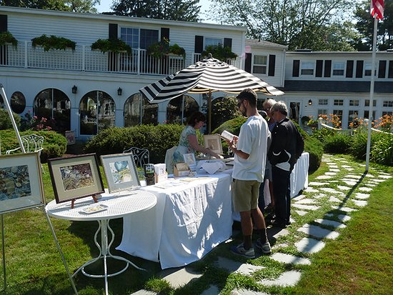 Hartwell House Inn: Watercolor demo with J. Roach-Evans