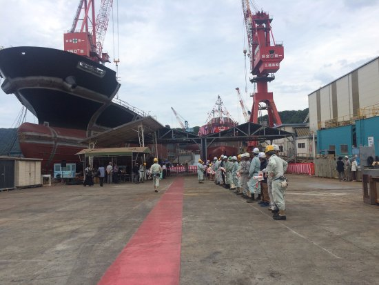 Saiki, Japan: Japanese ship builders and a huge ship which is still built!