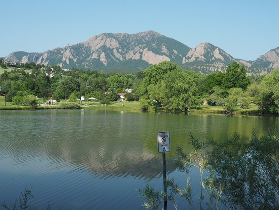 Boulder, CO: View from opposite the parking lot