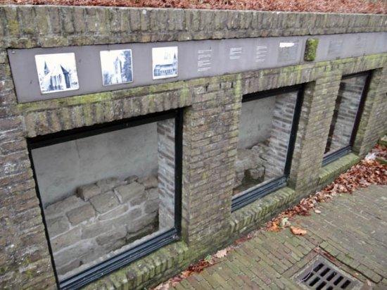 Zeist, The Netherlands: the church wall