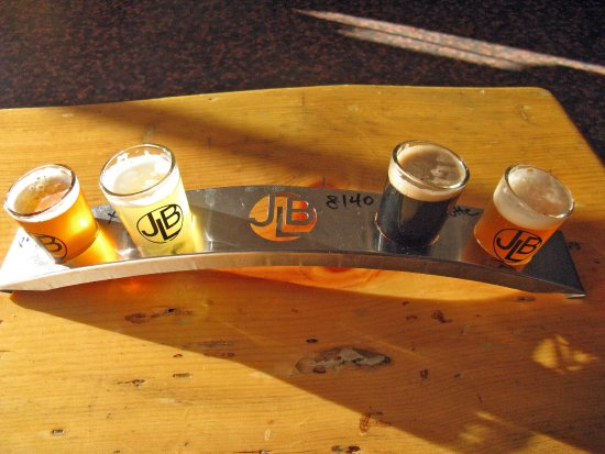 June Lake Brewing tasting flight