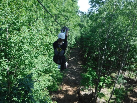 Minocqua, WI: I'm not a fan of heights, but still had a great time on zip line, thanks to guide Nathan!