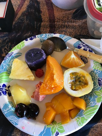 Makawao, Hawaï : Our organic fruit from Pono's garden!