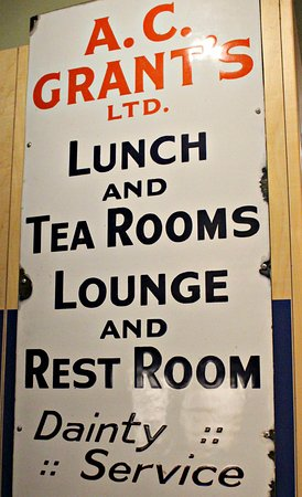 Grantown-on-Spey, UK: Sign from bygone tea room