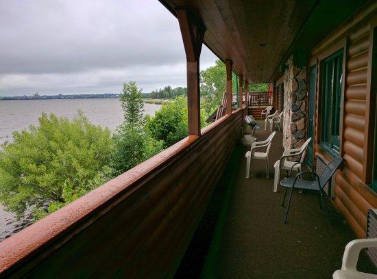 Ashland, WI: Balcony view of lake.