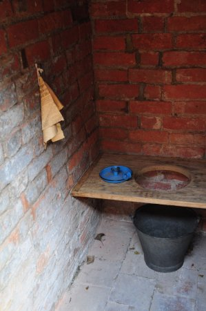 Coventry, UK: Outside Victorian toilet!