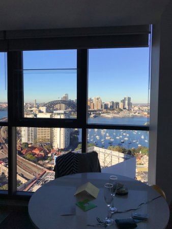 North Sydney, Australia: This window covers the full wall of the lounge area - photo doesn't show all of the view