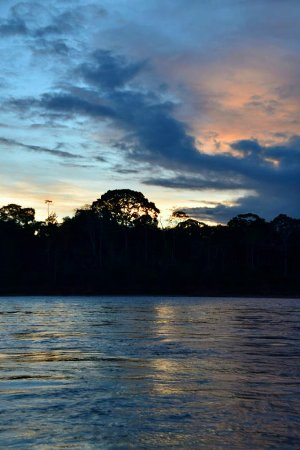 Tambopata Research Center: Stunning sunsets on the Tambopata.
