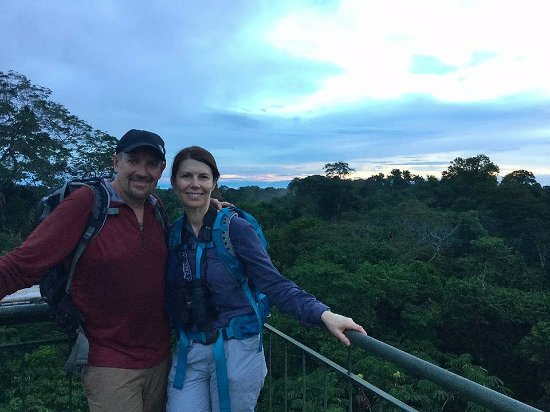 Tambopata Research Center: On top of the canopy tower at Refugio Amazonas.
