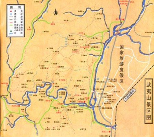 Wuyi Shan, Chiny: Map