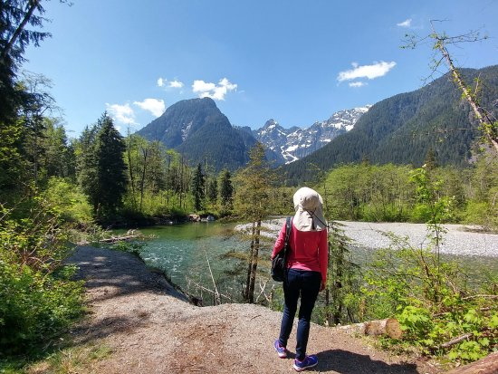 Maple Ridge, Canada: A hiker stops to take in the view