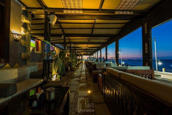 Granada Restaurant & pub: #Granada #restaurant #bar #cosy #atmosphere #sea view #nice #mood #comfortably #in #hurghada #eg