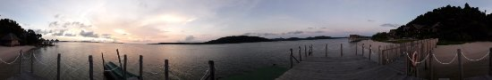 Sugi Island, Indonesien: panoramic from the dock
