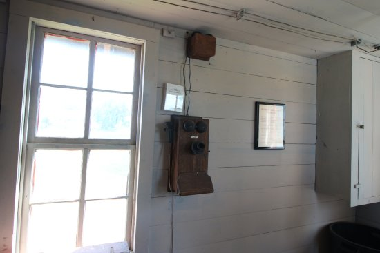 Burton, TX: antique phone in the upstairs office in the gin