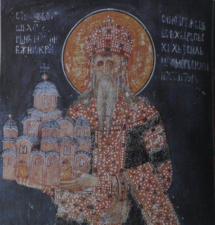 Gracanica, Kosovo: 建教堂的斯特凡國王(翻拍)