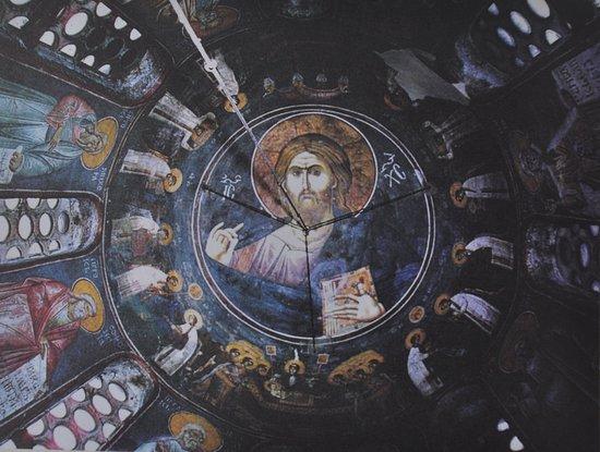 Gracanica, Kosovo: 穹頂的聖像(翻拍)