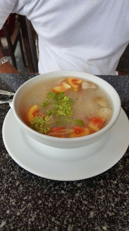 Thongtakian Resort: Soupe Tom yum