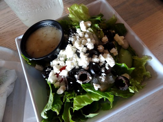 side greek salad with dressing on the side picture of glory bound rh tripadvisor com