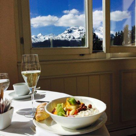 Samedan, Switzerland: Frühstück