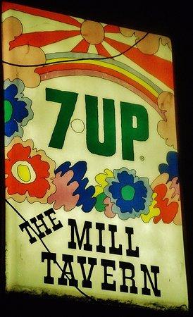 Camas, WA: The Mill Corner sign at night